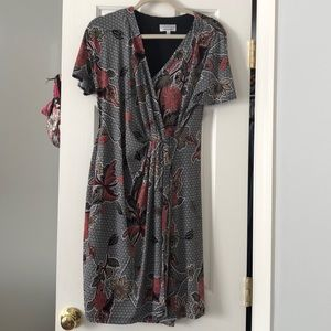 Tied floral dress